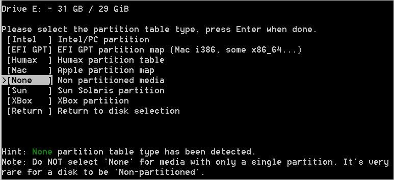 Ma carte SD sur TestDisk