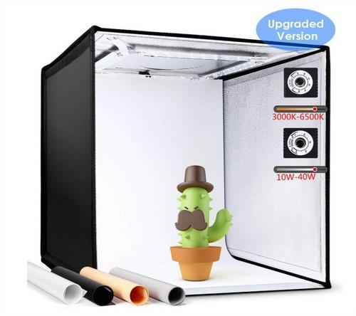 Boîte de lumière pour photographie d'objets