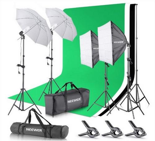 Kit photo avec fond vert