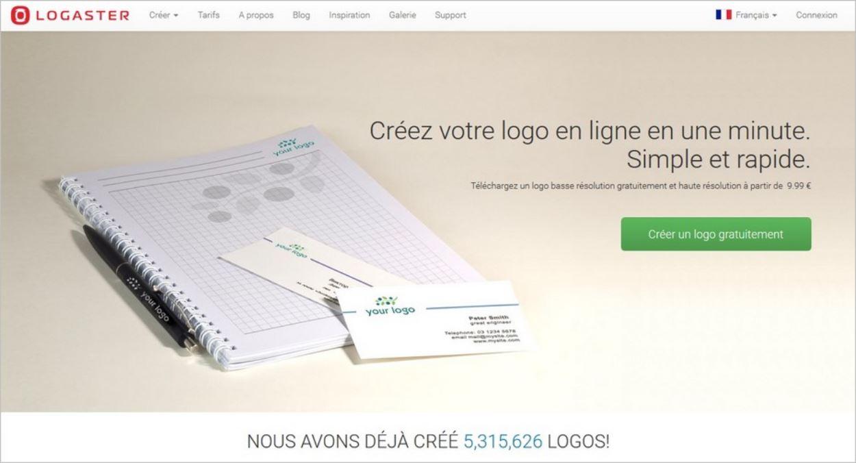 Logaster, un générateur de logo en ligne