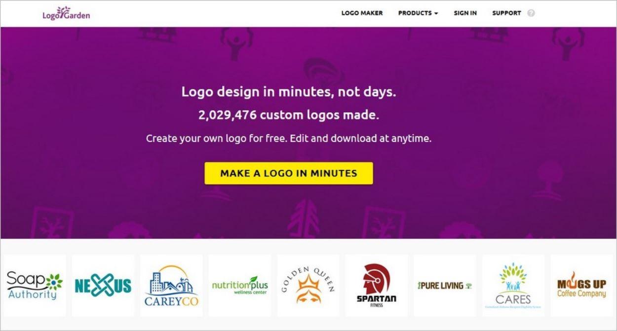 Logogarden, un service pour créer son logo facilement