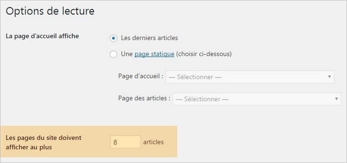 Pagination sur WordPress