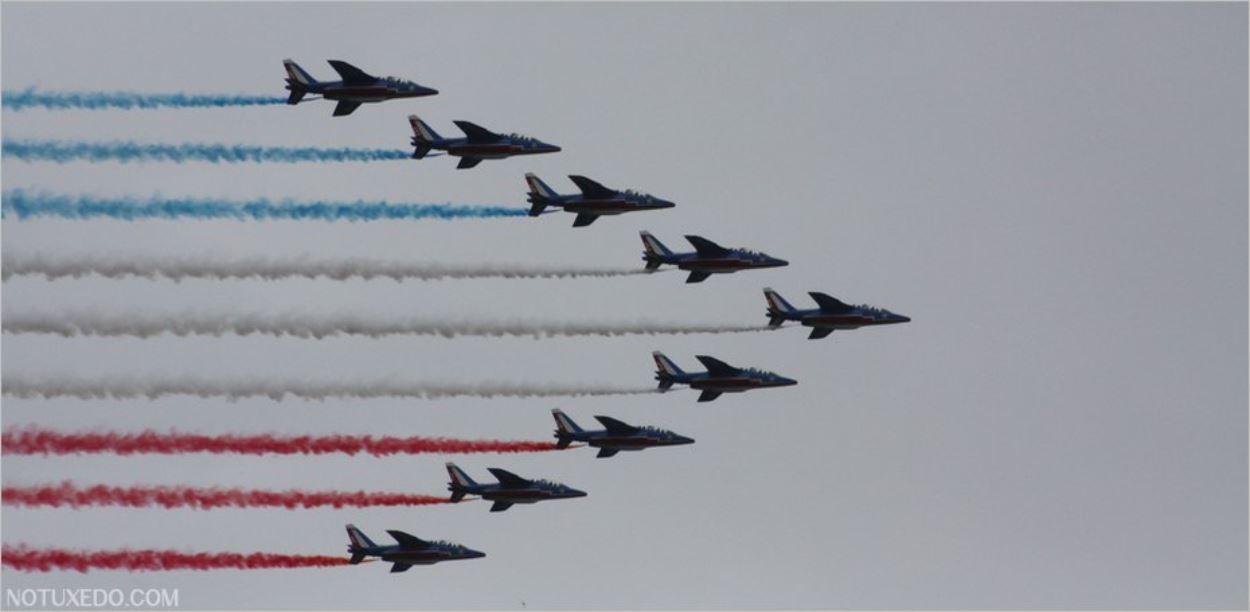 La Patrouille de France sous-exposée