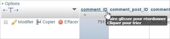 Trier les commentaires par comment_ID