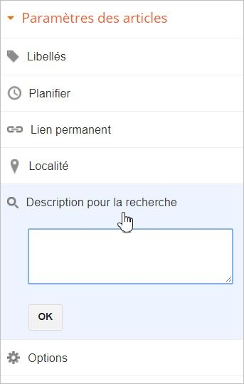 Personnaliser la meta description d'un article