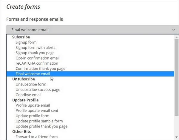 Personnaliser l'e-mail de bienvenue sur MailChimp