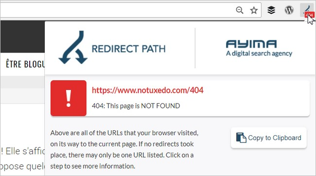 Redirect Path sur une page 404