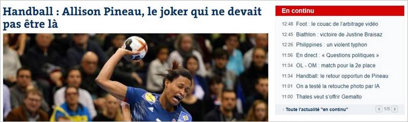 Sidebar du journal Le Monde avec l'actualité en continu