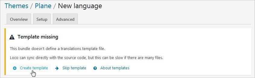 Créer un template pour traduire son thème