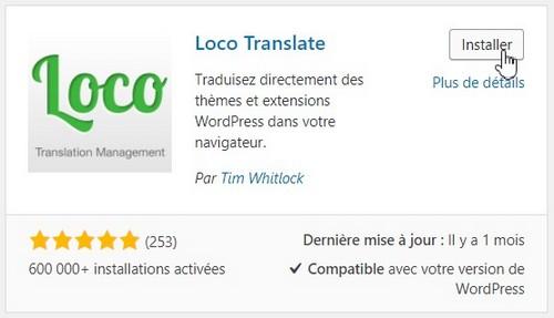 Installation de l'extension Loco Translate
