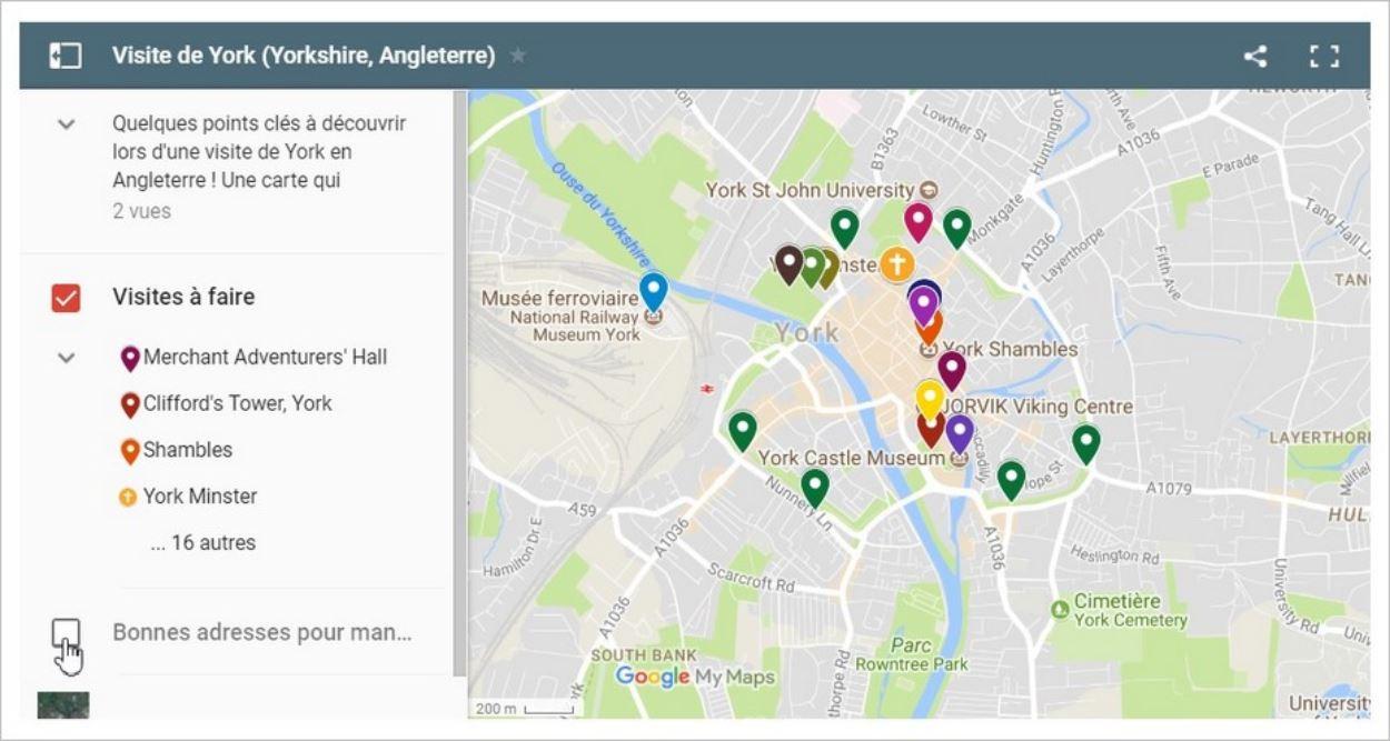Carte Google Maps personnalisée