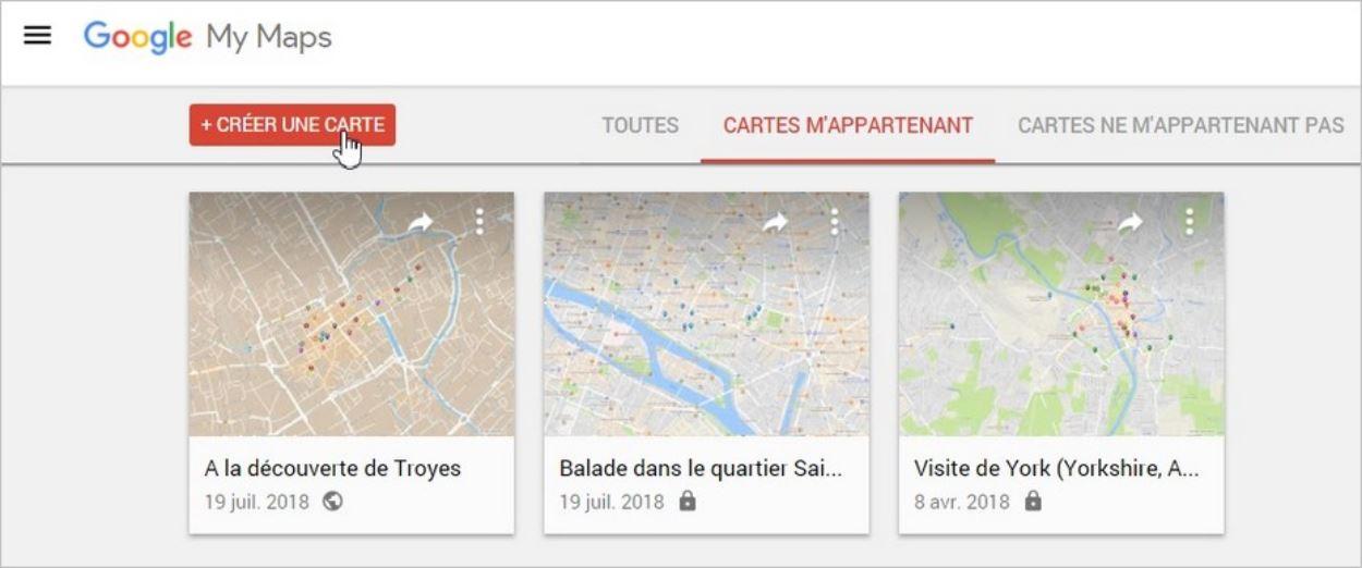 Créer une carte personnalisée sur Google Maps pour son site