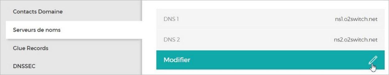 Changer les DNS de son domaine