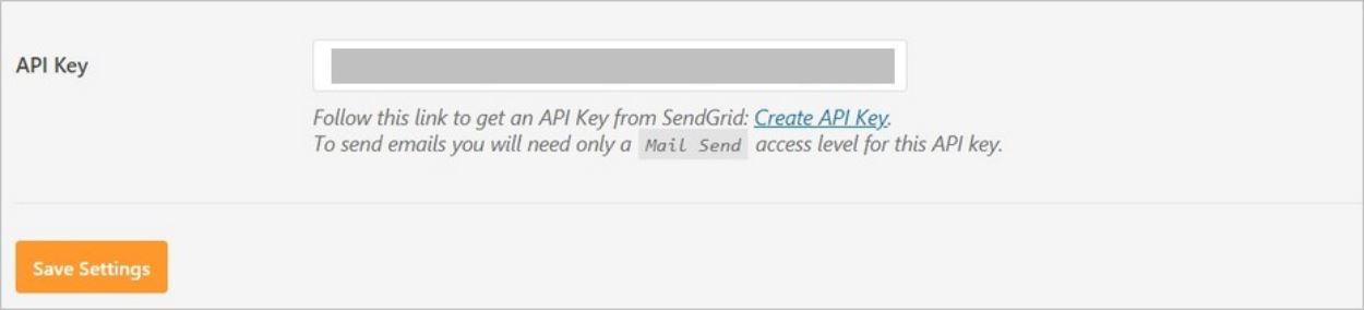 Clé API copiée dans les réglages du plugin WordPress