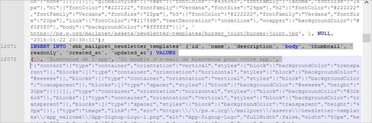 Découper une base de données trop lourde