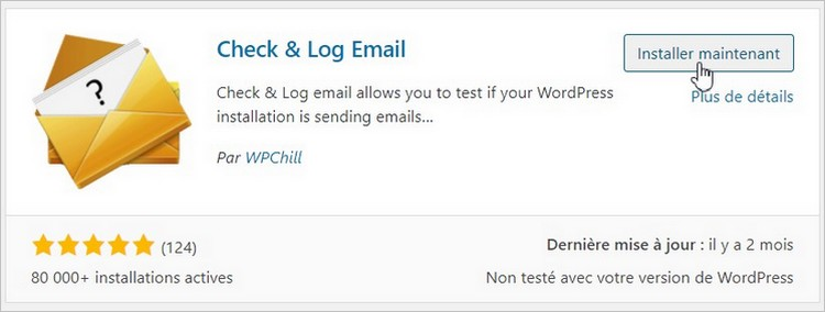 Le plugin Check & Log Email sur WordPress