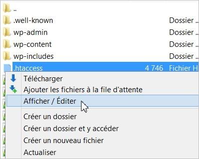 Le fichier htaccess