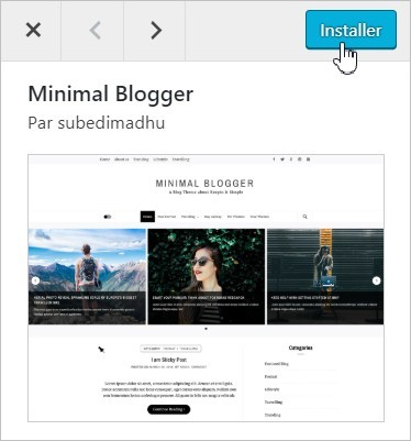 Installer un thème WordPress sur son blog