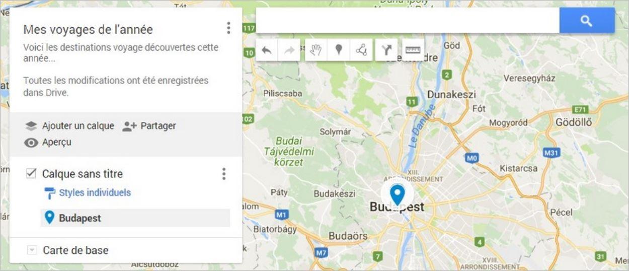 Marqueur sur une carte Google Maps