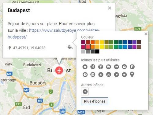 Personnaliser un marqueur Google Maps