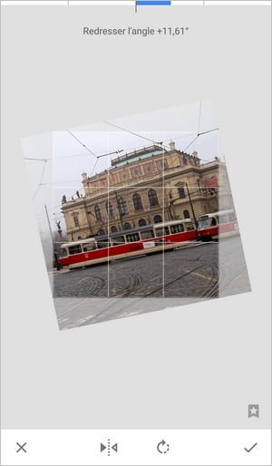 Rotation d'une image sur Snapseed