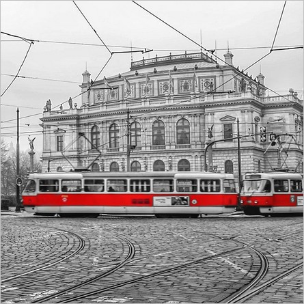 Tramway de Prague - Photo retouchée