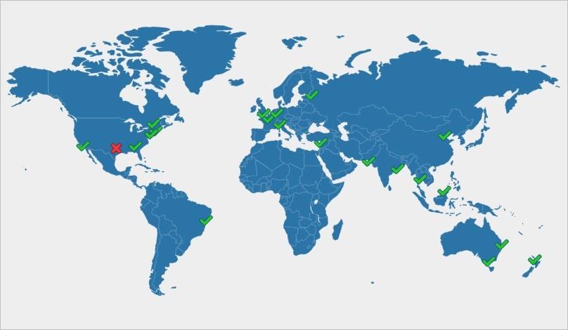 Propagation des DNS dans le monde