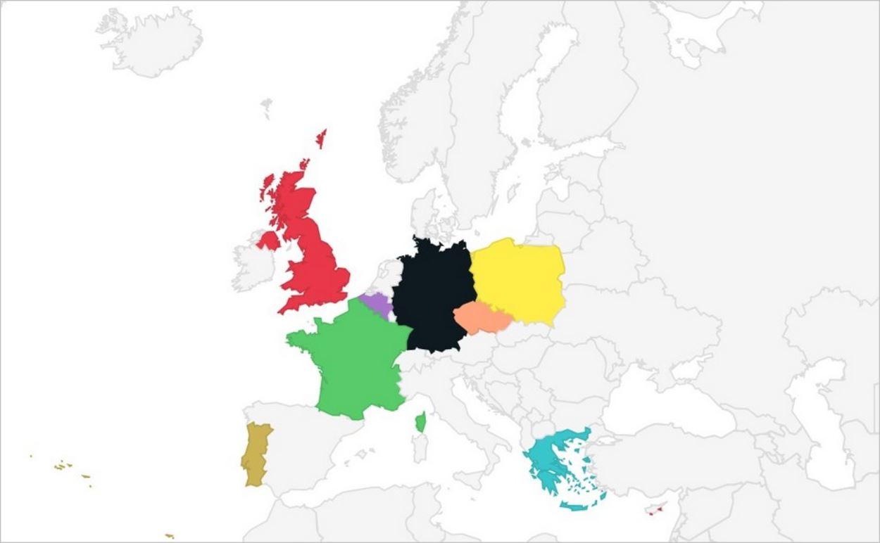 Carte d'Europe personnalisée