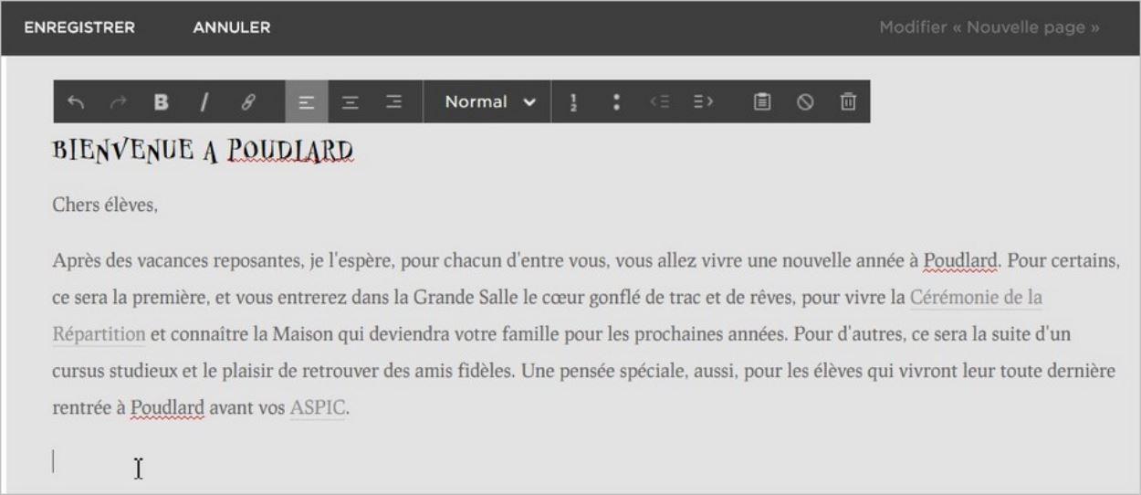 Un éditeur intuitif pour modifier du texte