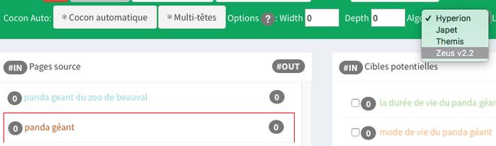 L'algorithme Zeus en action sur Cocon.se