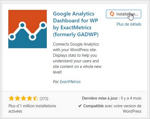 Installer le plugin Google Analytics sur WordPress