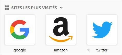 Sites favoris sur Firefox