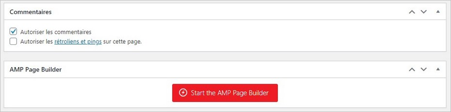 Page Builder sur AMP for WP