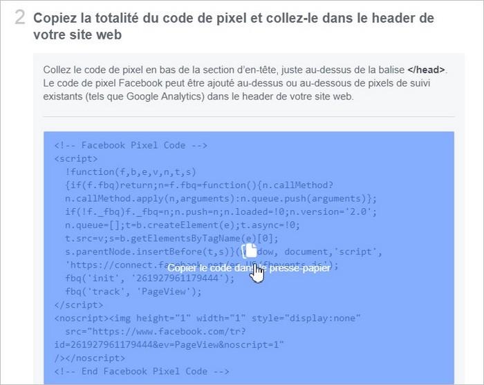 Installation du code