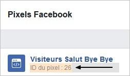 ID du pixel Facebook