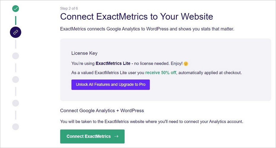 Configuration de Google Analytics Dashboard for WP - Etape 2