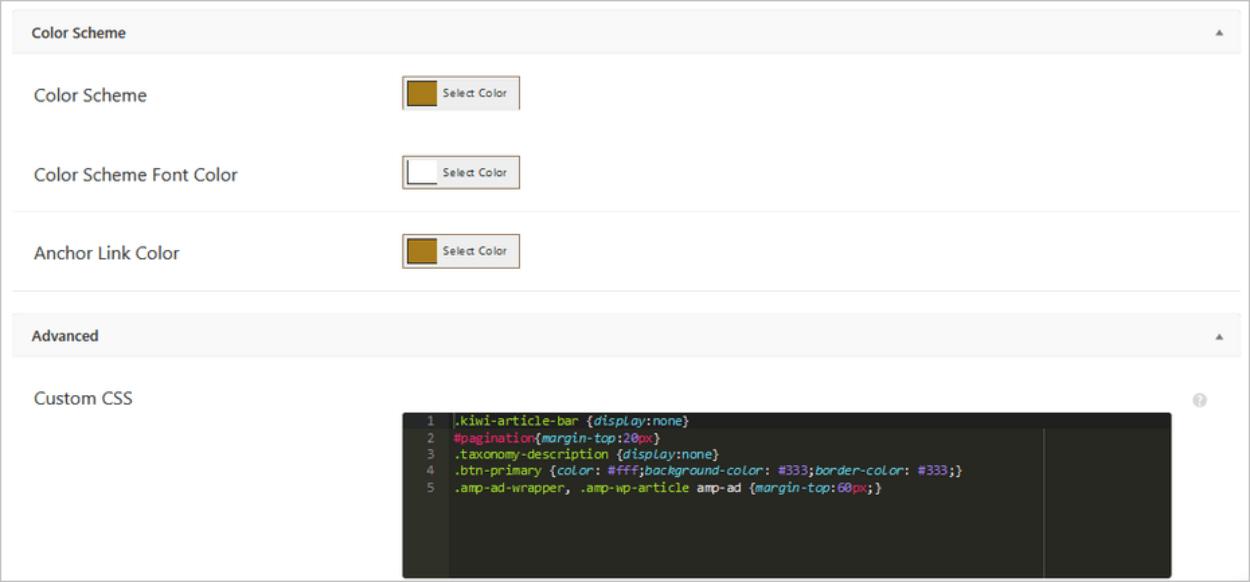 Code CSS personnalisé