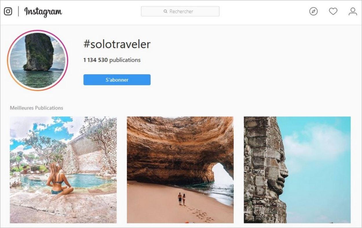 La communauté des voyageurs solo sur Instagram