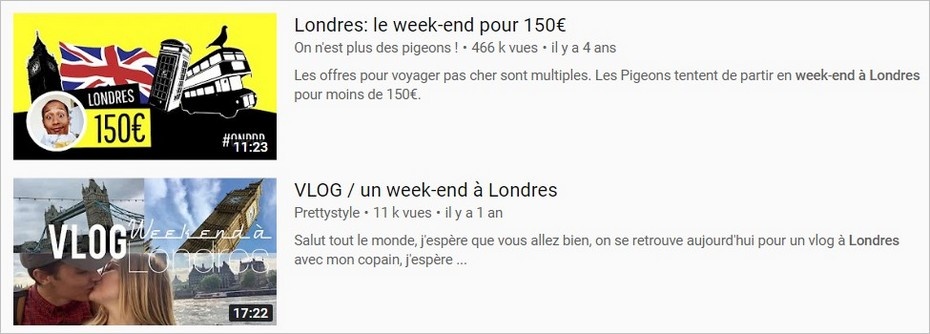 La description YouTube, un impact sur le taux de clic