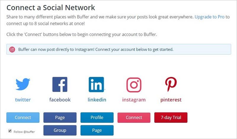 Relier un réseau social à l'outil Buffer pour planifier ses posts