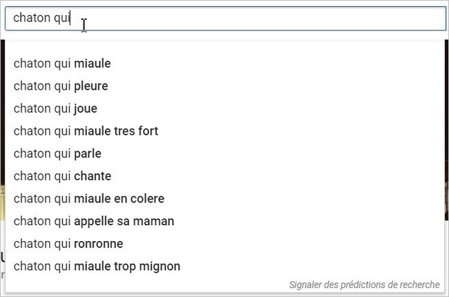 YouTube Suggest sur un sujet simple