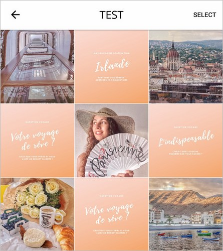 Test de flux Instagram