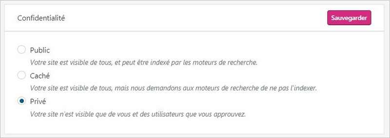 Confidentialité sur un blog WordPress