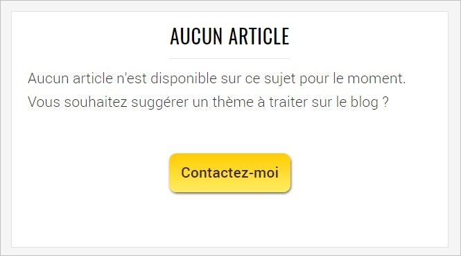 Suggérer une action alternative sur le blog