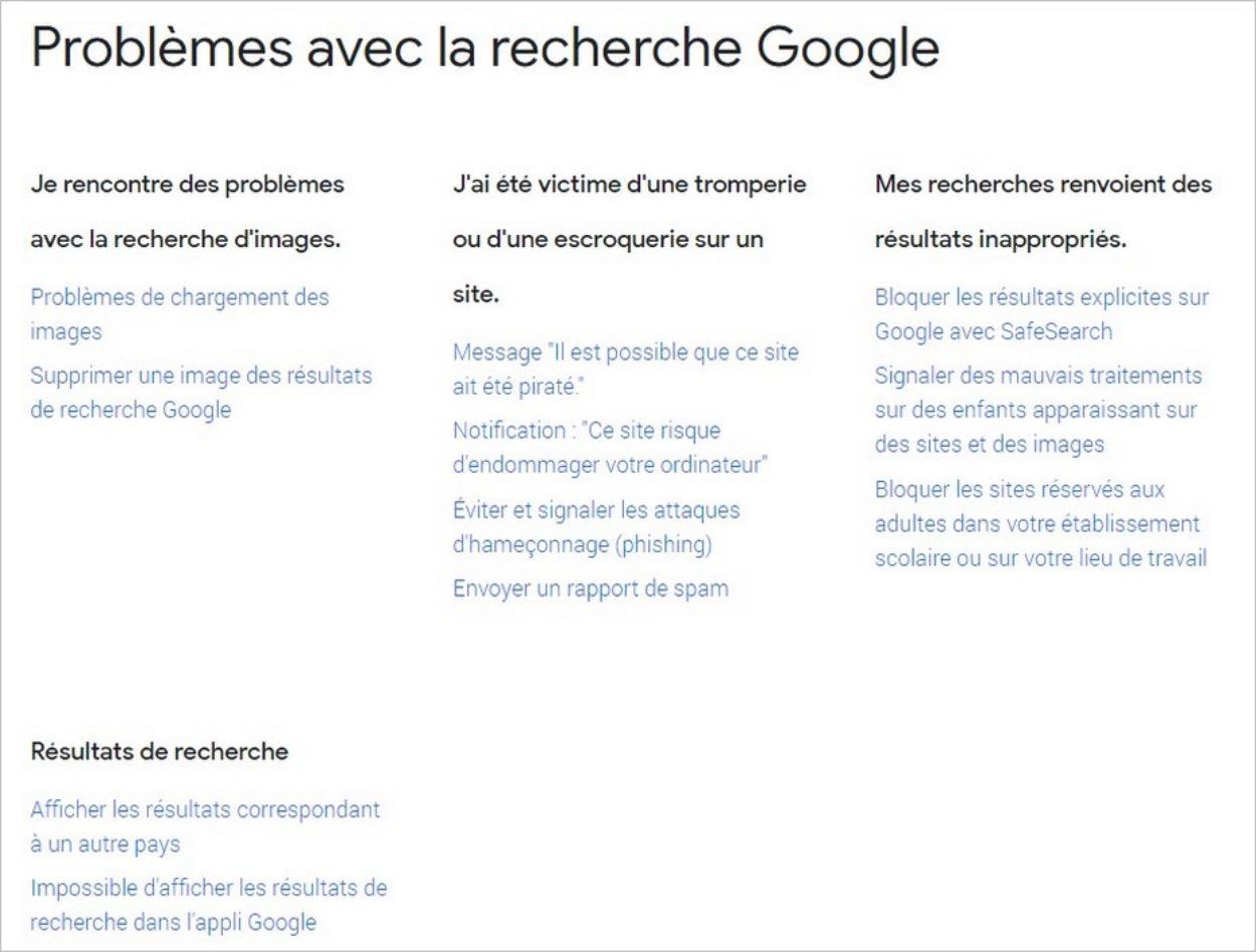 FAQ thématique sur Google