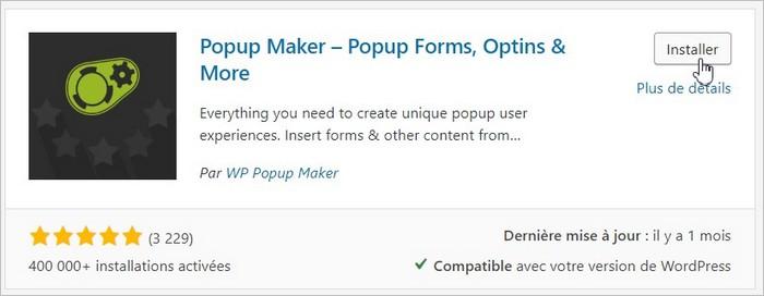 Installer Popup Maker