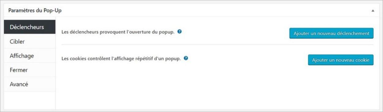 Paramétrer sa popup sur WordPress