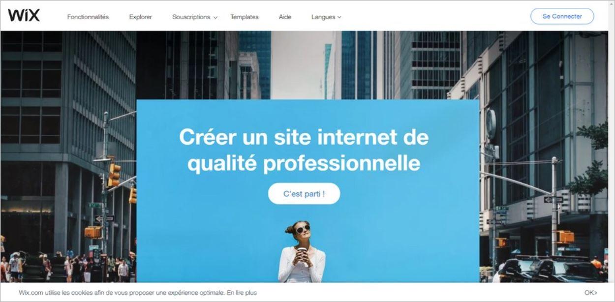 Créer un site Internet avec Wix