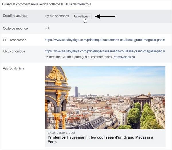 Re-collecter les données Open Graph sur Facebook