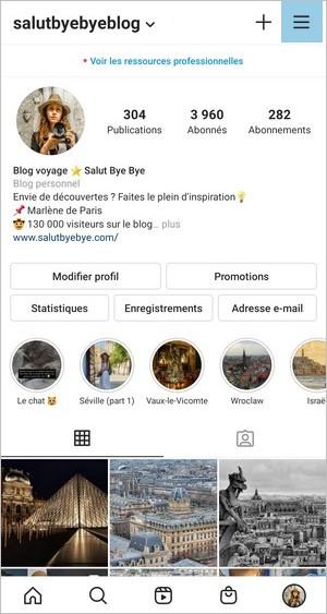 Options Instagram